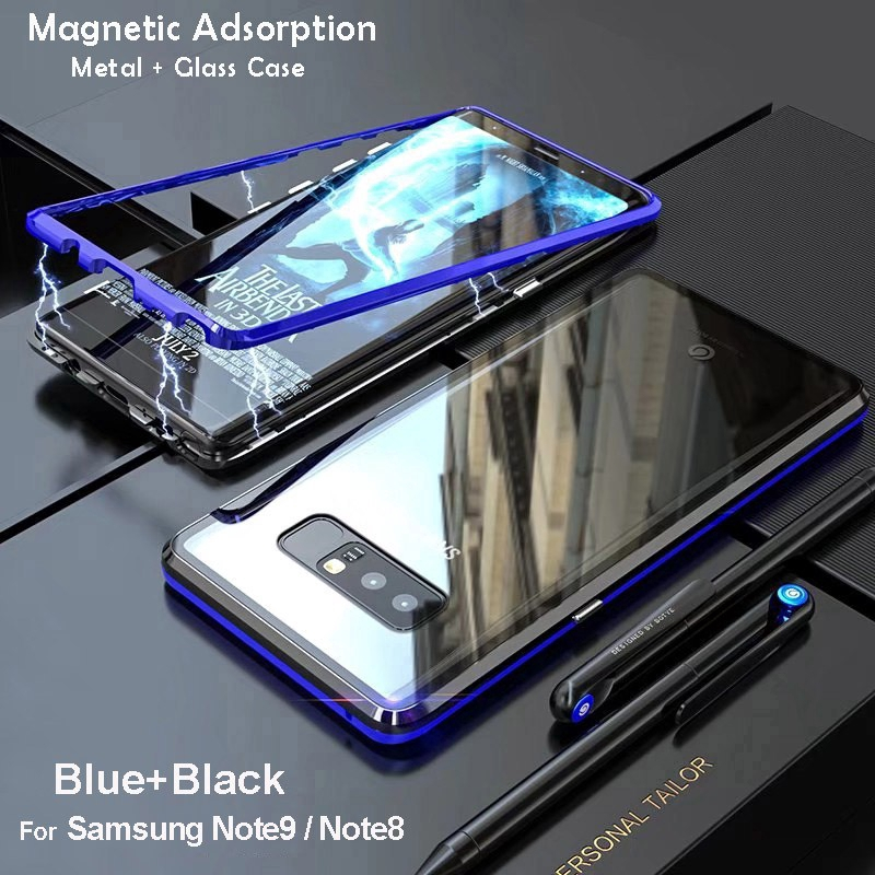 best loved 51a8a 03746 Samsung Galaxy Note 9 Note 8 Magnetic Adsorption Glass Case