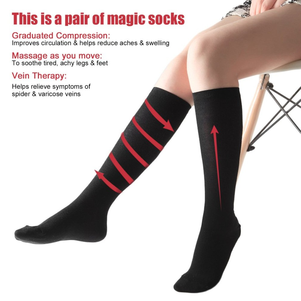 4a84f25a04 Unisex Anti-Fatigue Compression Socks Foot   Shopee Philippines