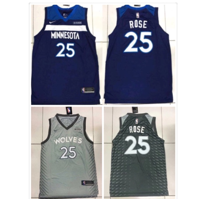 27d04a1ed NBA WOLVES 25 Derrick Rose Swingman Jersey