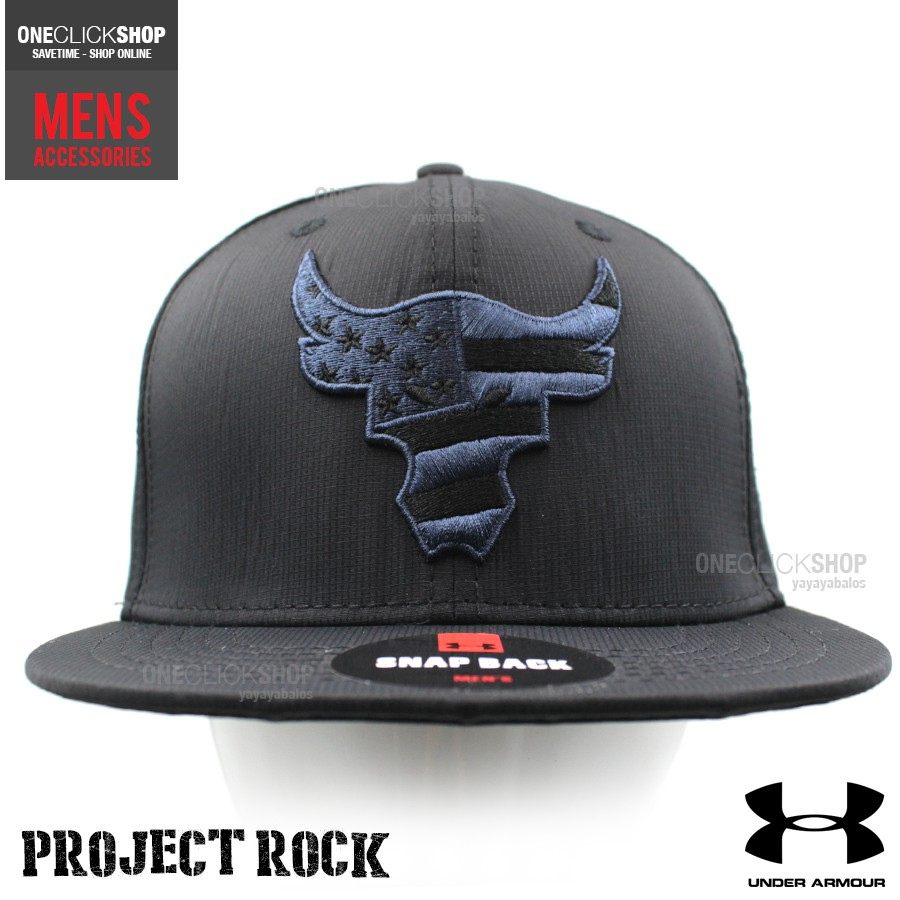 Under Armour Project Rock Snapback Sports Cap - Black  29e13422d76
