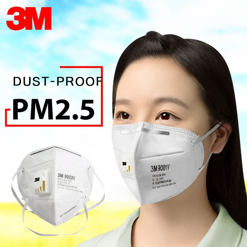 Valve 9002v Ready 9003v3m N95 Dust Anti Mask Stock Air 9001v Respirator Fast Outdoor Filter Shipping