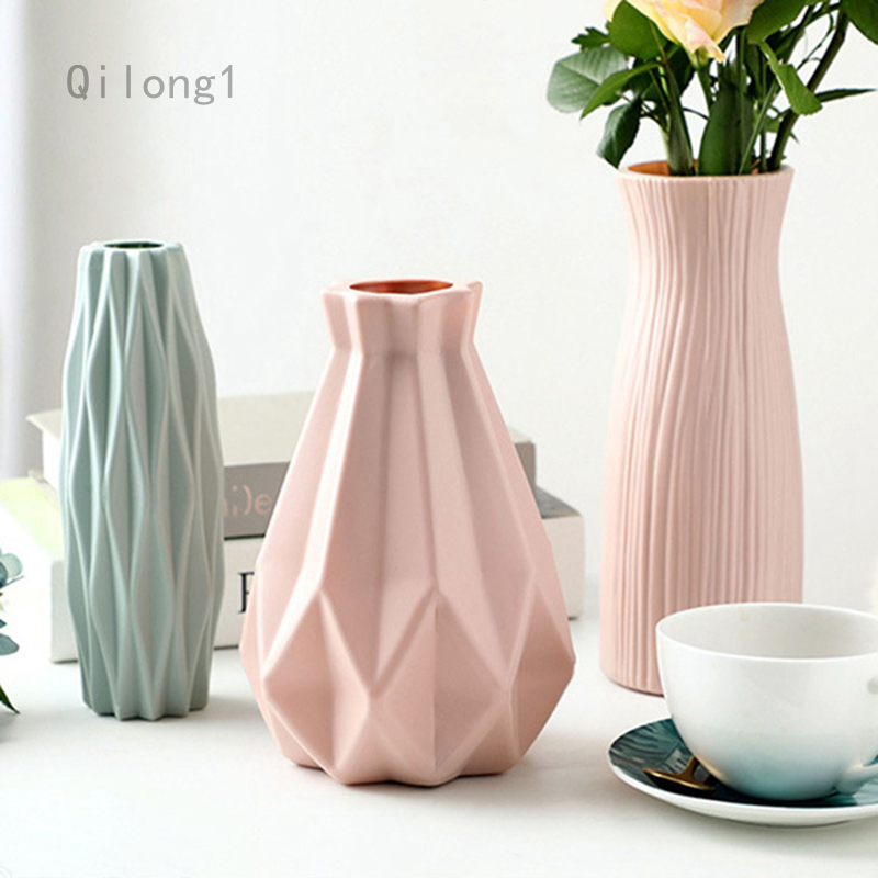 Vases Creative Imitation Plastic Small, Decorative Vases For Living Room