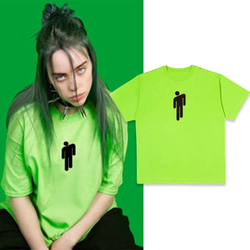 Billie Eilish Green T Shirt Casual Streetwear Grunge Short Sleeve Tops Shopee Philippines