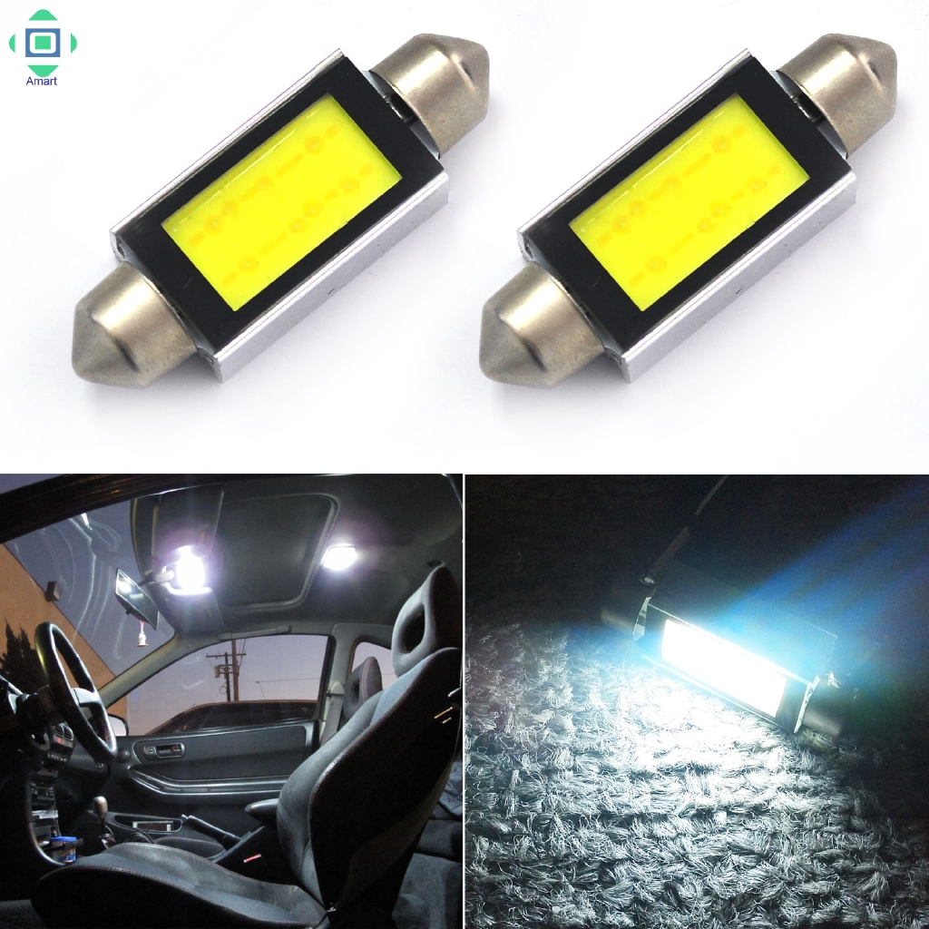 48 SMD COB LED T10 4W 12V White Light Cars Interior Panels Dome Lamp Bulb、Fad