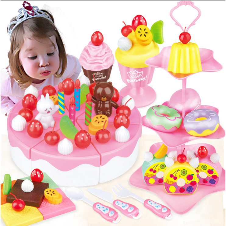 Baby Kitchen Toys Pretend Play Cutting Toy Kids Cake Food Shopee Philippines