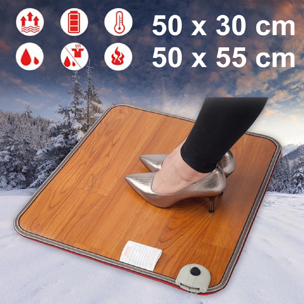 58a105331 Electric Foot Warmer Carpet Pad Heated Thermostat Floor Mat | Shopee ...