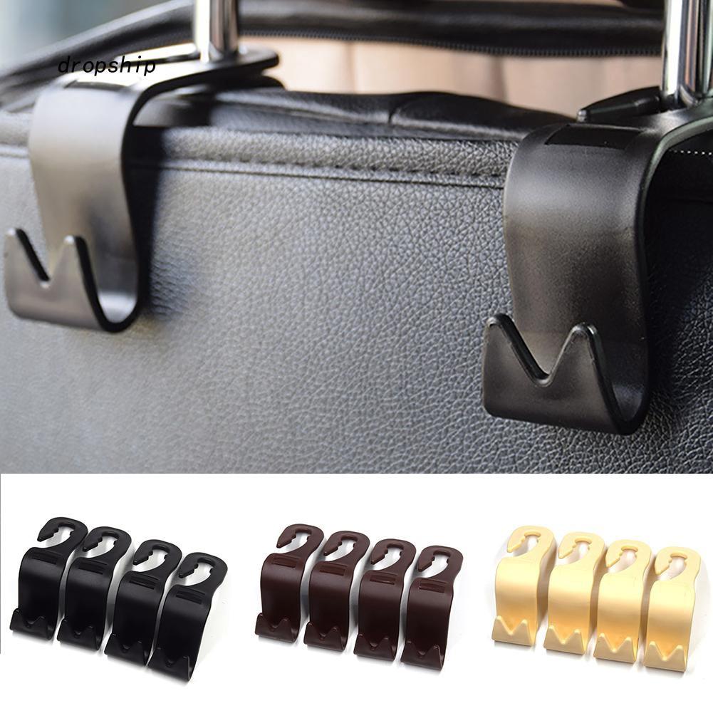2Pcs Convenient Auto Car Vehicle Back Seat Hanger Holder Hook Bag Coat Organizer