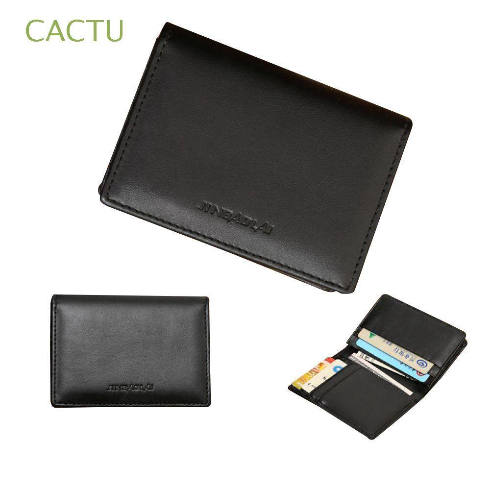 3c9ba25df332 Black Bifold Men's Purse Genuine Leather Money Clip Wallet