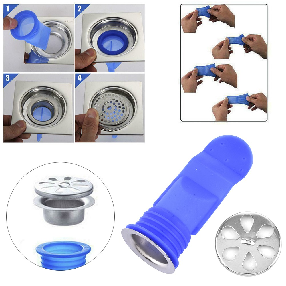 Deodorant Silicone Core Sewer Pipe Seal Ring Bathroom Washing Machine Tool Hot
