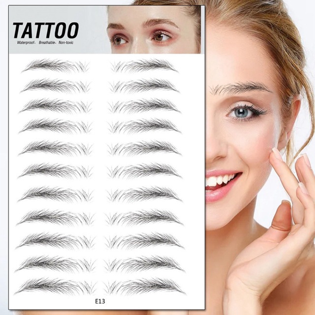 4d Hair Like Authentic Eyebrows Waterproof Imitation Ecological Lazy Natural Tattoo Eyebrow Stickers For Woman And Man Makeup Tool Shopee Philippines