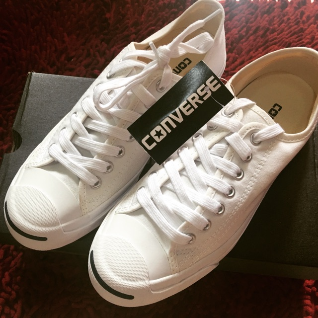 baa8078fd632 Converse White Canvas shoes Jack Purcell