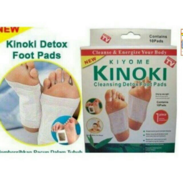 Kinoki Detox Foot Pads Organic Herbal Cleansing Patches Shopee
