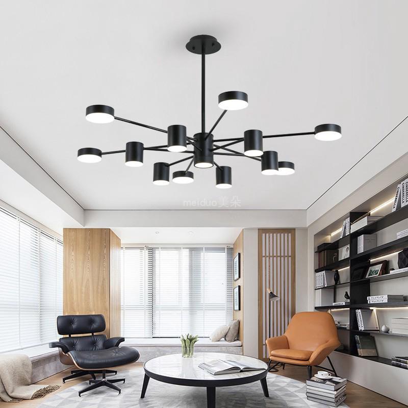 Nordic Simple Modern Chandelier Led Living Room Light