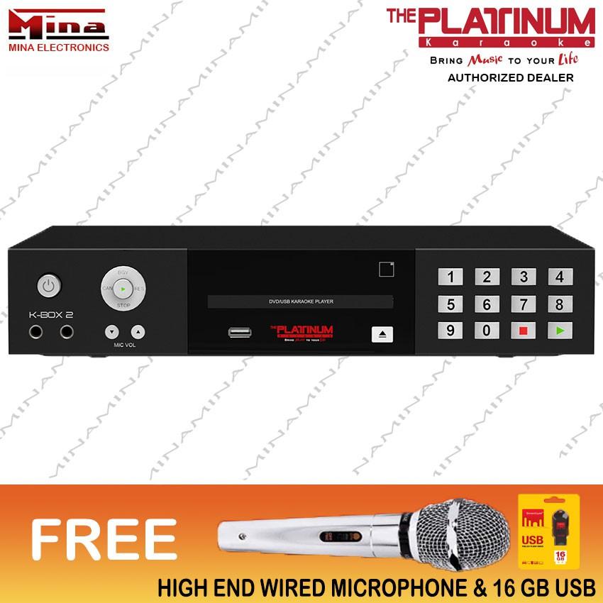 The Platinum K-BOX 2 Karaoke Videoke Player w/ Mic