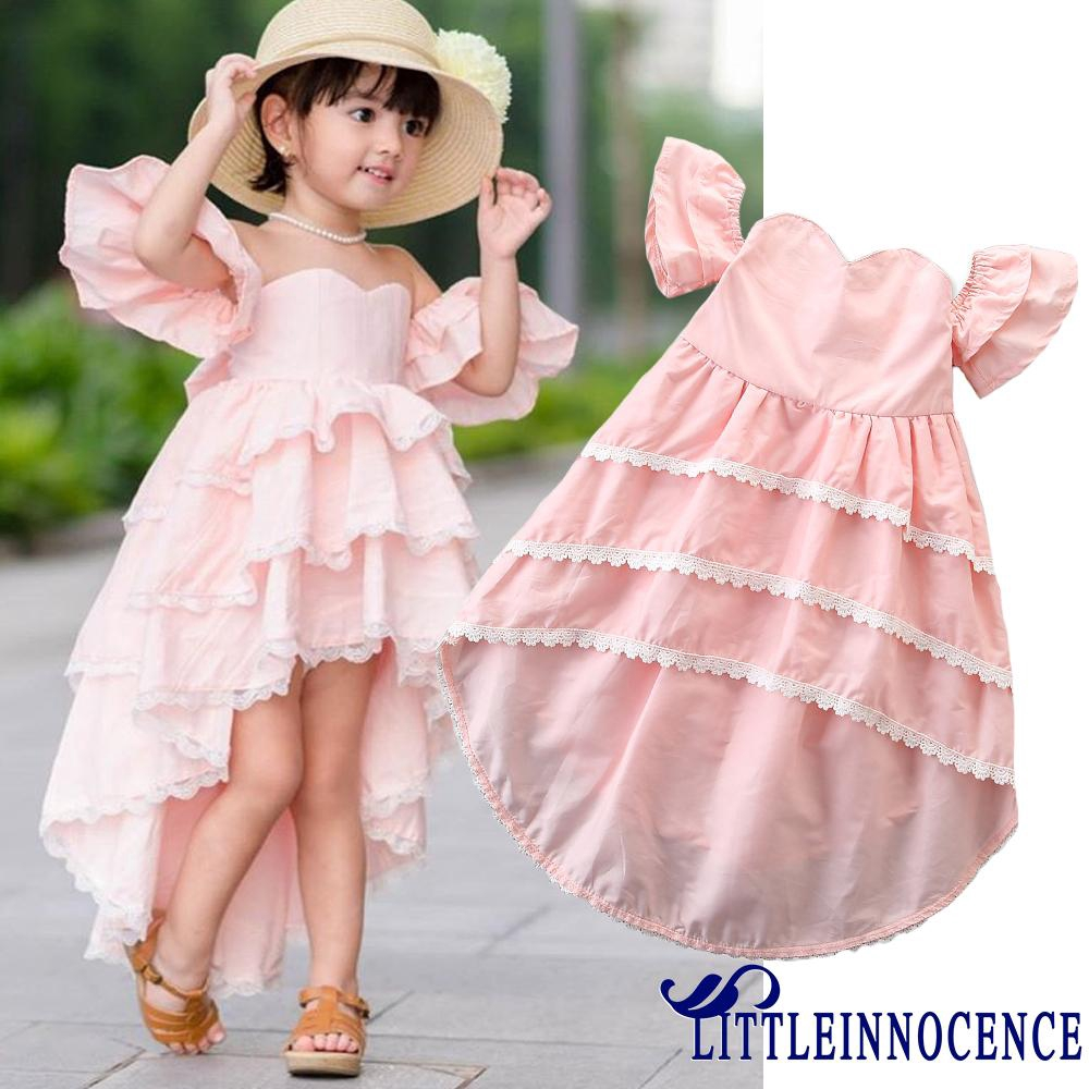 8b5b78c37 ON8-Toddler Kids Baby Girl Lace Summer Ruffle Party