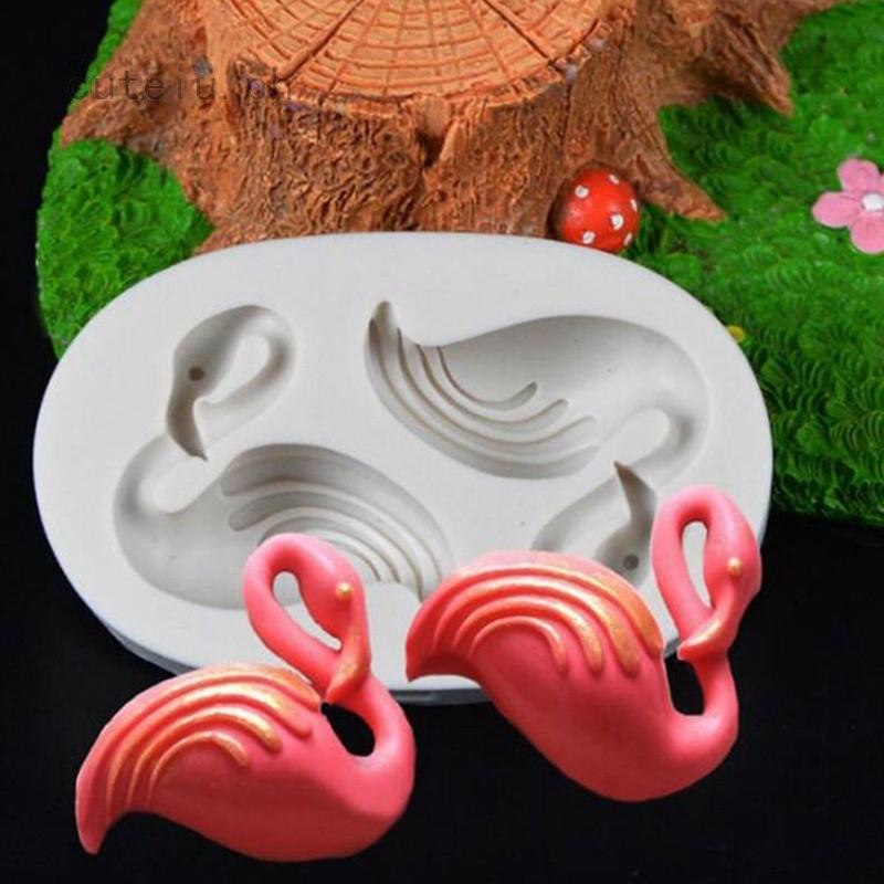 Flamingos Shape Cake Mold Chocolate Moulds Baking Sugarcraft Decoration Tool DIY