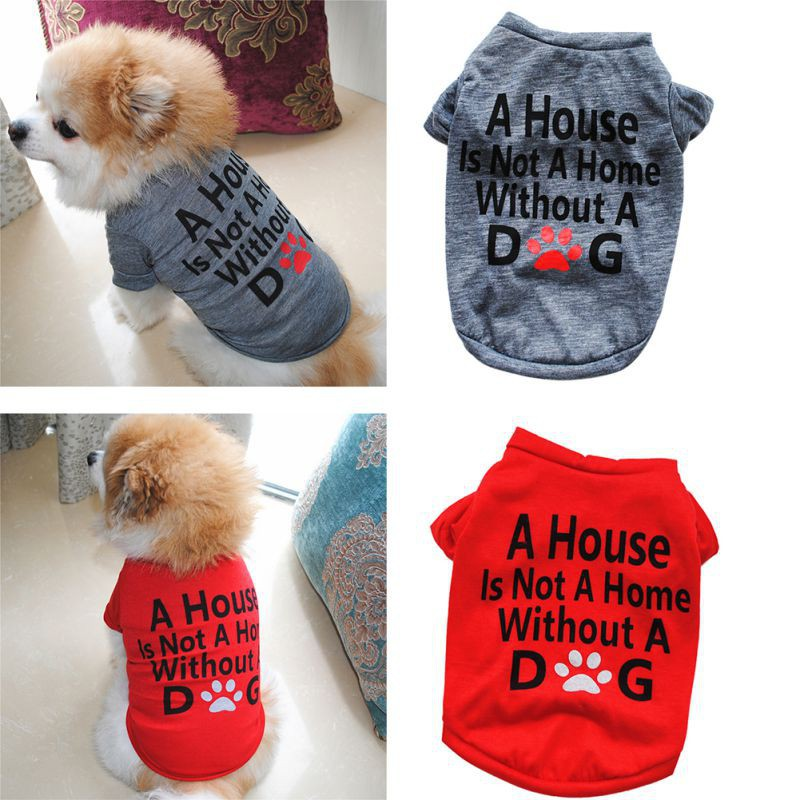 d891444e88254 Puppy Summer Vest Small Dog Cat Dogs Cotton T Shirt Clothes