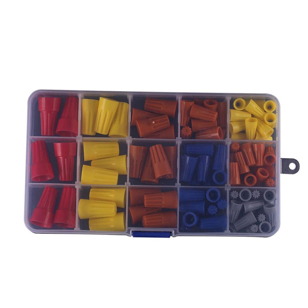102pcs Wire Connector Twist Electrical Nut Spring Cap Assortment Set Multi-Color