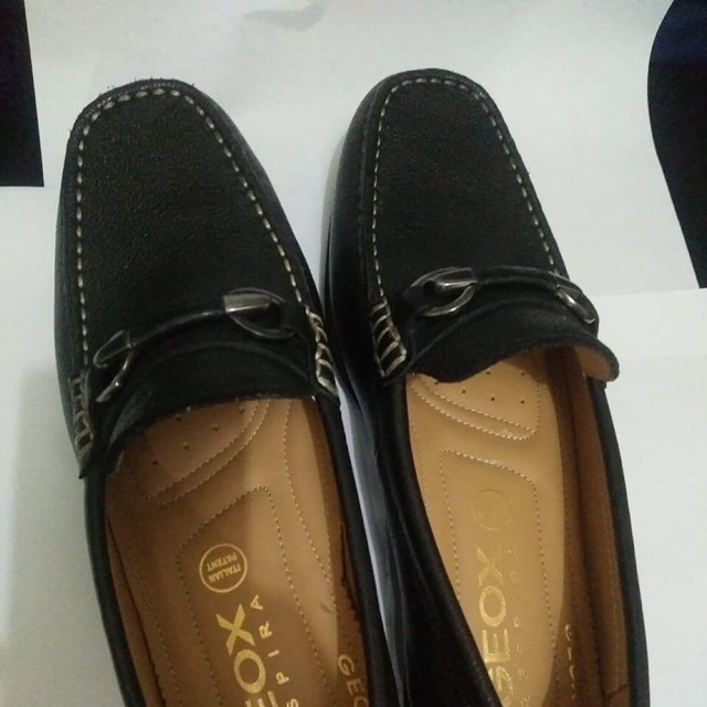 audible subasta No puedo leer ni escribir  Geox black leather shoes | Shopee Philippines