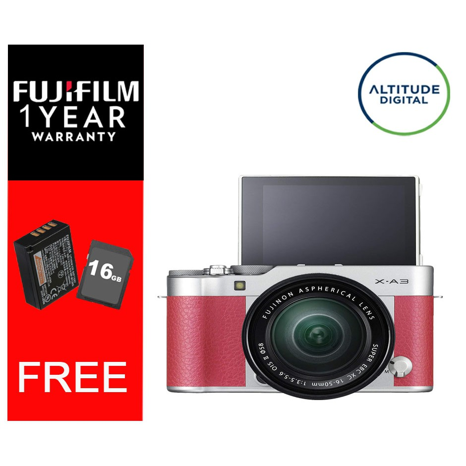 Fujifilm Xa3 With 16 50mm Kitlens Shopee Philippines X A3 Kit Silver