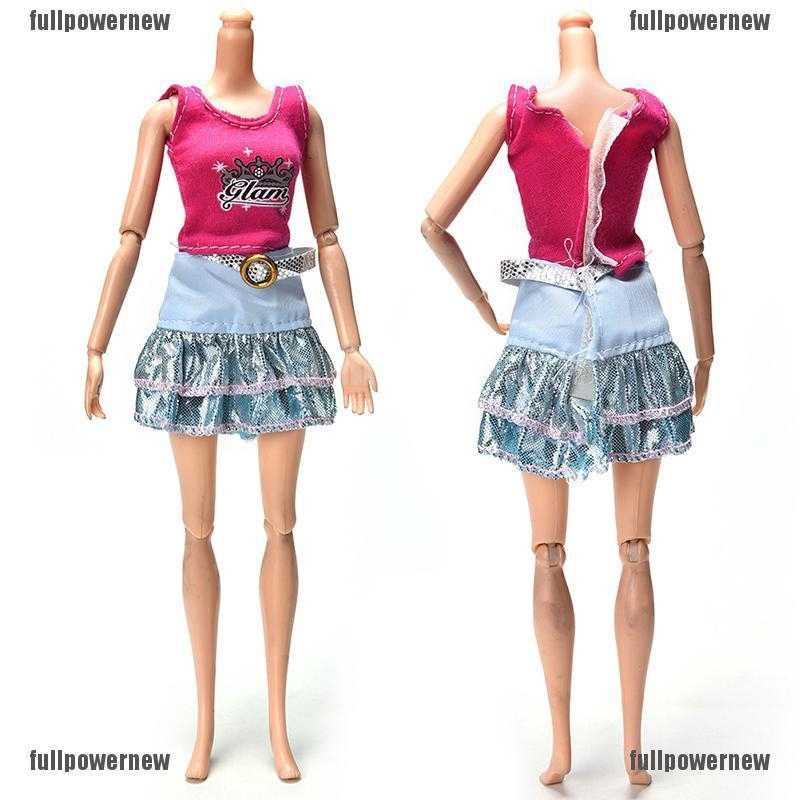 2X Pink Vest Suit for  Dolls Fashion White Pants Printed Doll Cloth^-YN