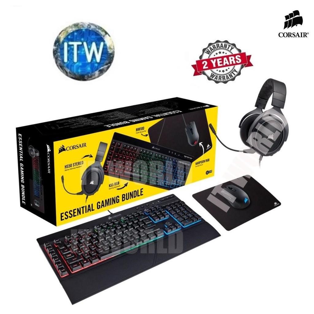 CORSAIR Essential Wired Gaming Set Bundle