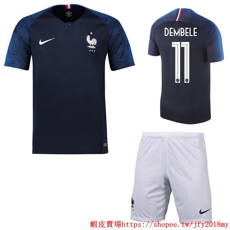 cheap for discount 0ca71 316da 2018 World Cup France National Team NO.11 DEMBELE Home kit away kit  Football Jersey shirts