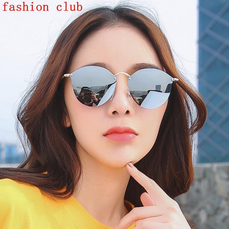 3fce29581a Net Red Street sunglasses female 2018 new Korean tide retro UV sunscreen  sunglasses cat eyes person