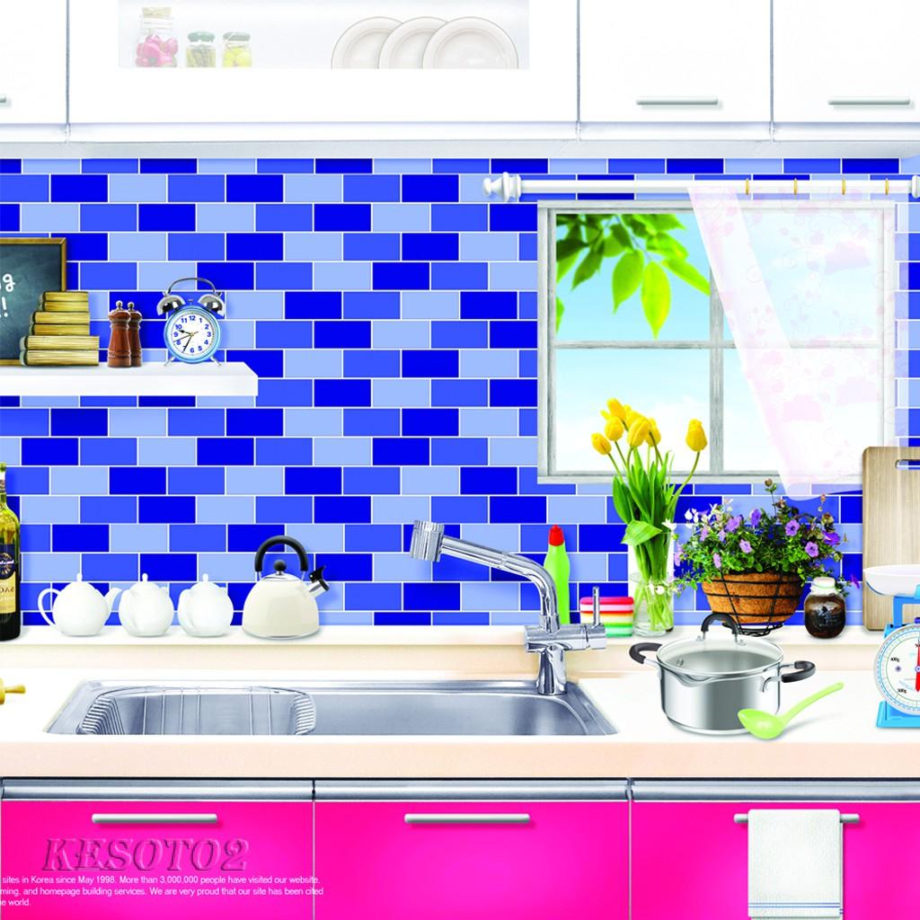 KESOTO9] Self Adhesive Glitter 9D Mosaic Tile Wall Sticker ...