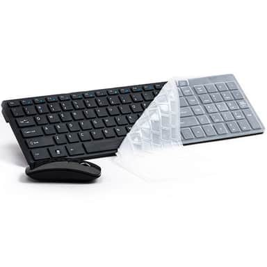 2 4G Ultra-Thin Wireless Keyboard w/ Mouse And USB Receiver