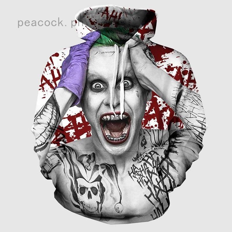 3D Print Men Hoodie Sweater Sweatshirt Squad Joker Quinn Jacket Pullover Tops
