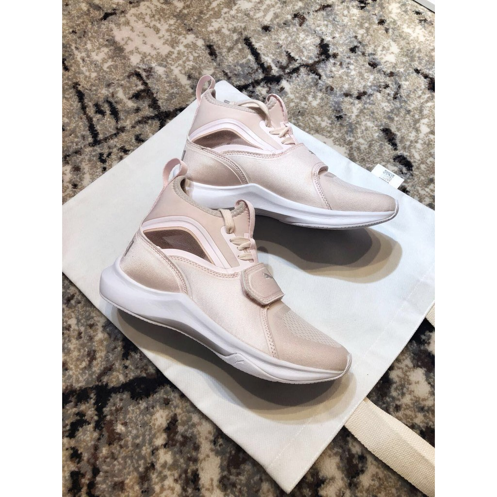 Puma Phenom Satin EP pink white casual training shoes sneakers