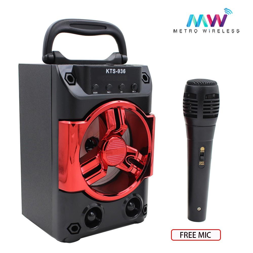 Karaoke Portable Wireless Bluetooth Speaker KTS