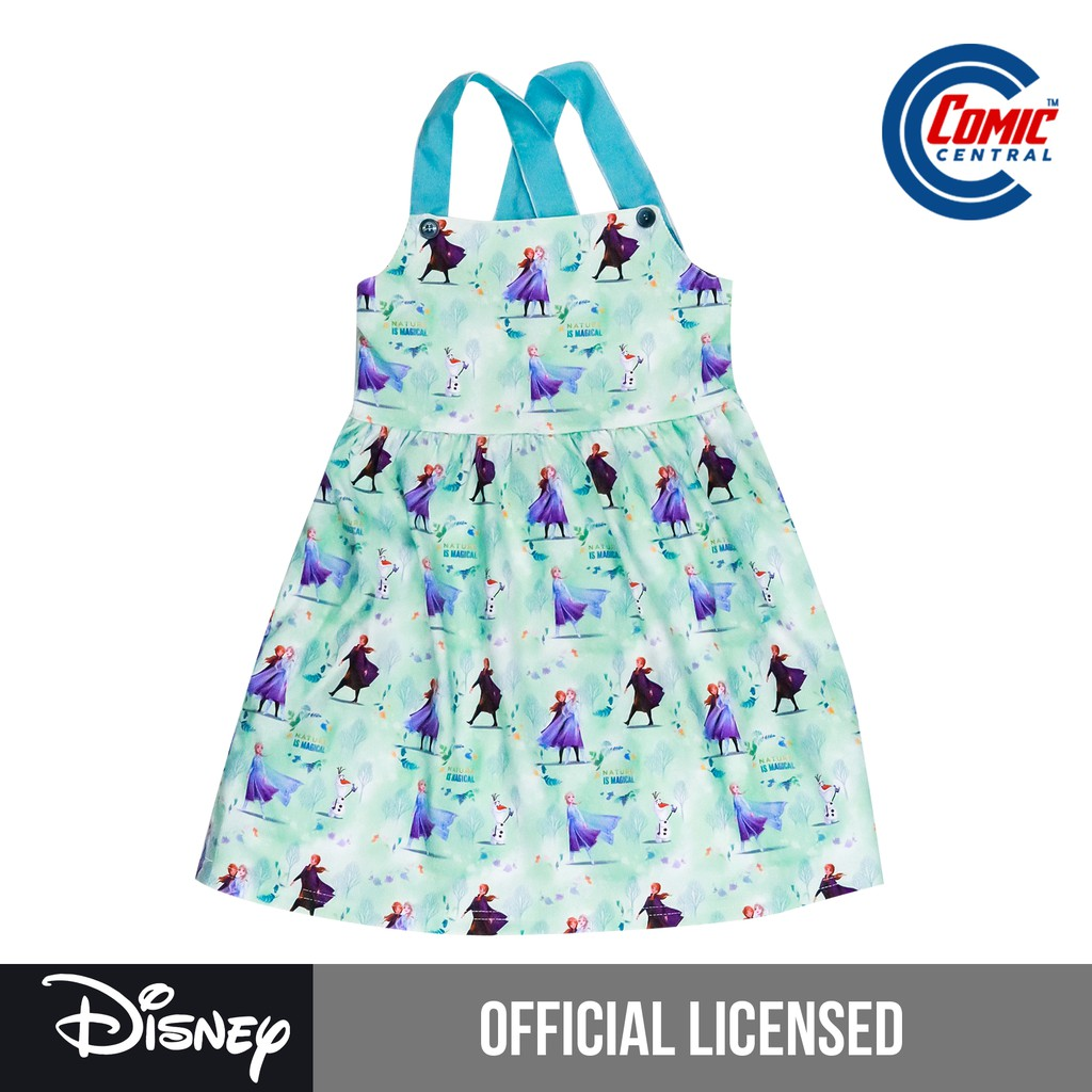 Girls apron made with Frozen fabric