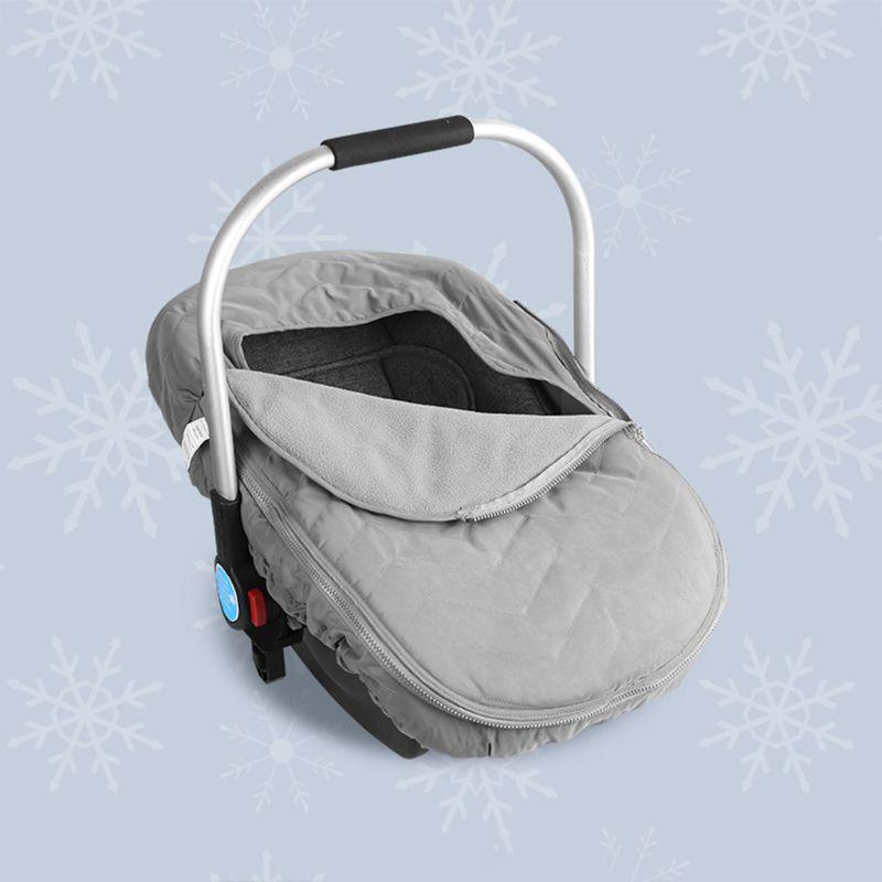 Baby Toddler Bassinet Stroller Blanket Cover Wraps Seat Cradle Cotton Mat Hood