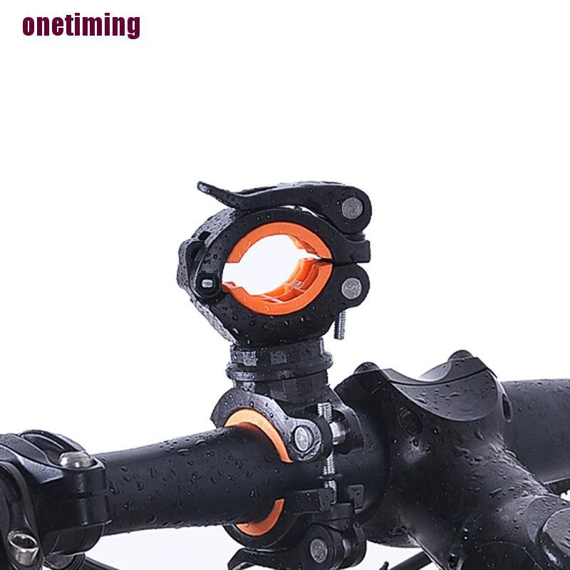 1//2xLED Flashlight Mount Bike Holder Bicycle Torch Bracket Clip Clamp 360° Great