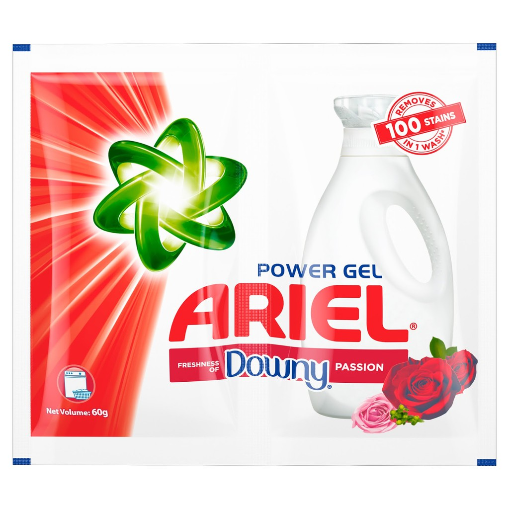 6pcs Ariel power gel with the power of downy passion twin