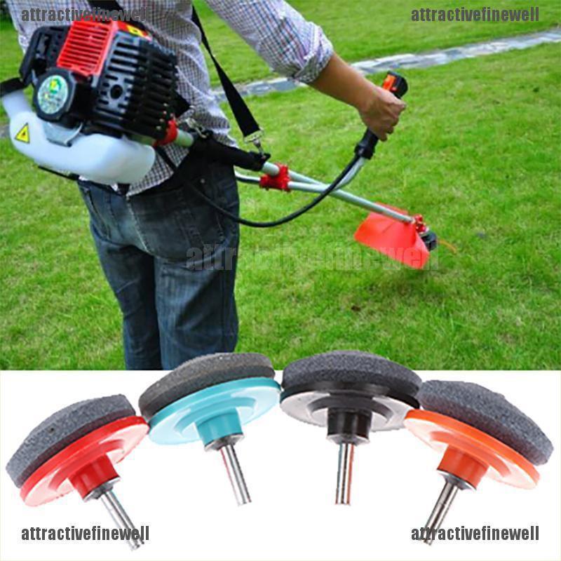 2*Universal Lawn Mower Faster Blade Sharpener Grinding Power Drill Garden Tool