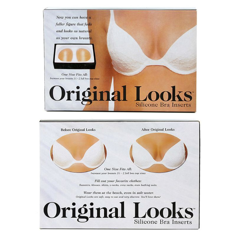Original Looks Silicone Bra Inserts and Enhancers One Size Fits All