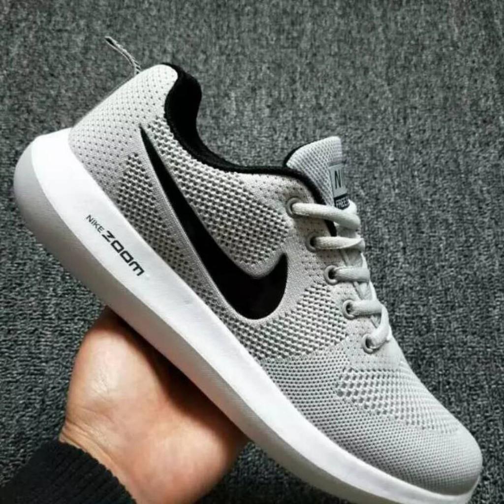 Mascotas Conectado Formación  Nike Zoom Couple Fashion Shoes/ Light Grey Black.   Shopee Philippines