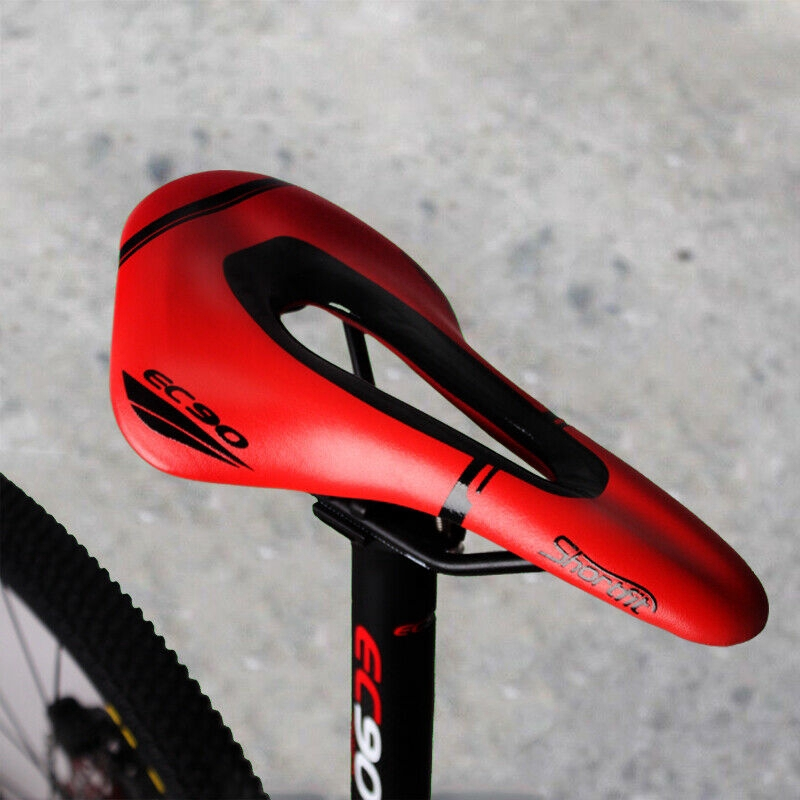 Cycling Bike Seat Carbon Rail Bow PU Leather Cover Bike Saddle Bicycle Cushion