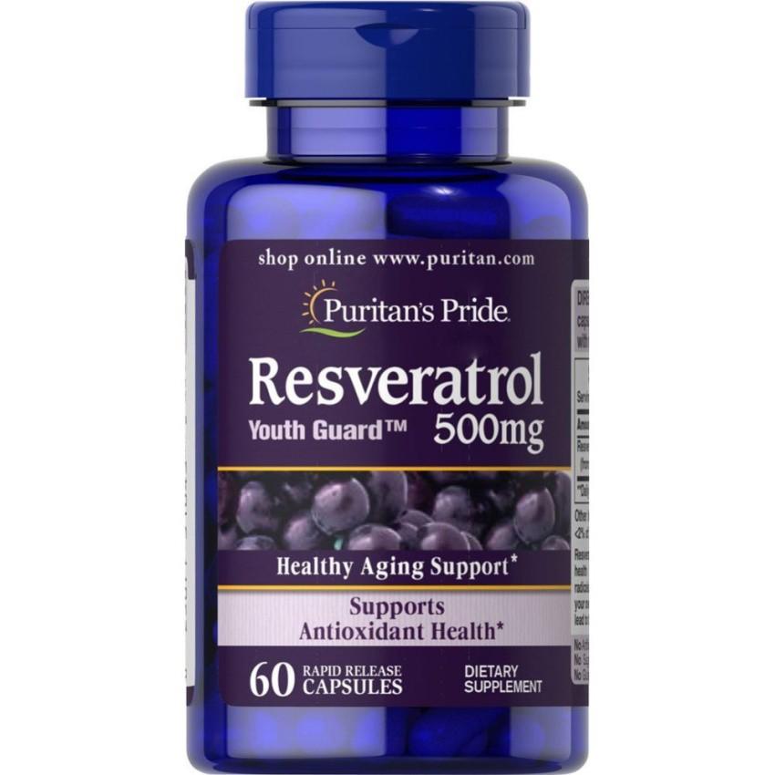 Puritan S Pride Resveratrol 500 Mg 60 Capsules Shopee Philippines