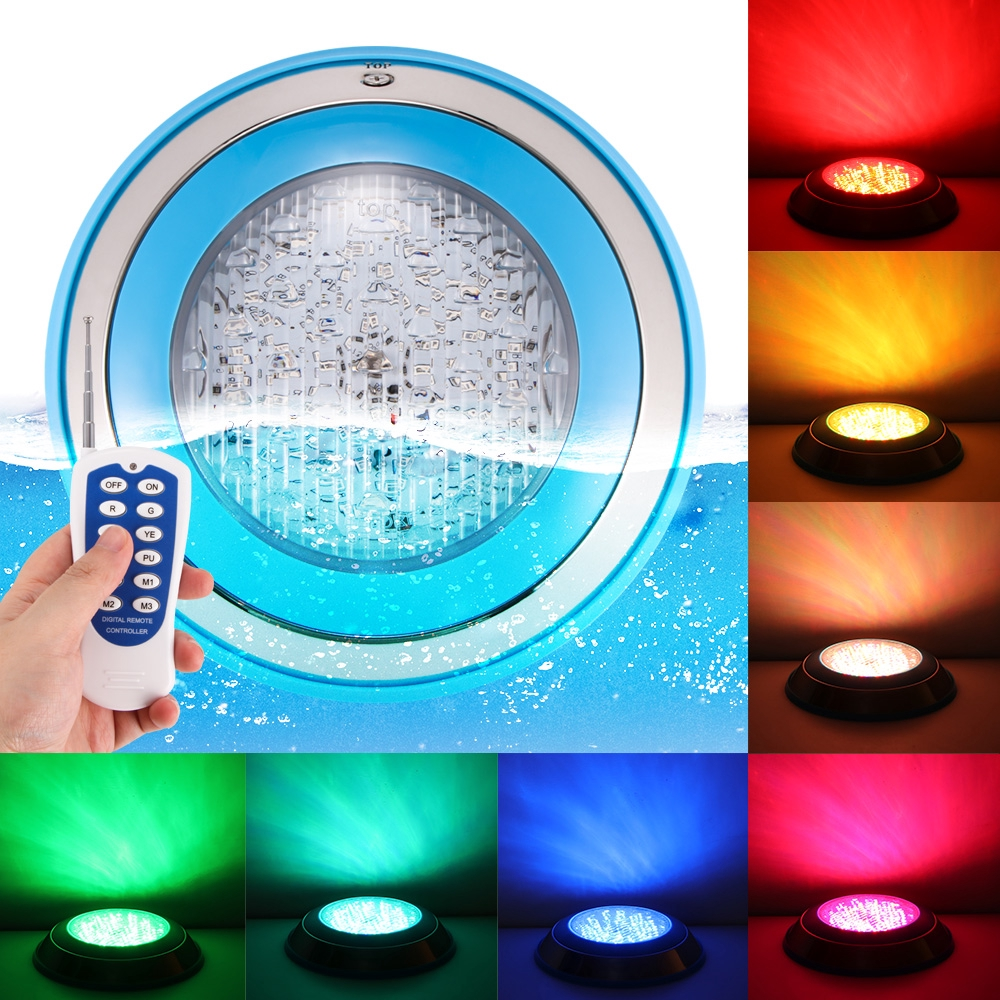 24 Led Rgb Underwater Swimming Pool Light Multi Color 12v 24w With Rgb Remote Controller Stainless Steel Or Plastic Outdoor Lighting Waterproof Underwater Lamp Shopee Philippines