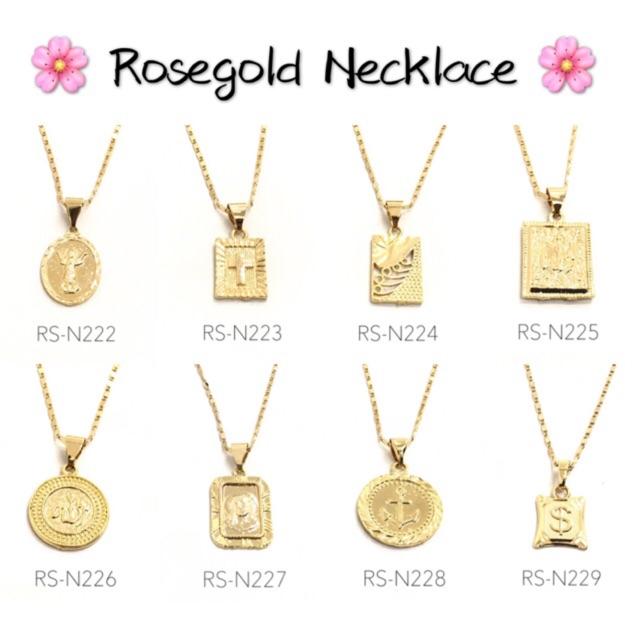 Rose gold Initial A B C D E G L M N R S Necklace Rosegold | Shopee Philippines