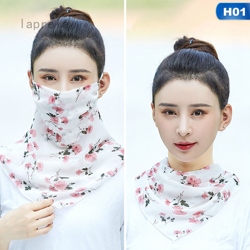 Women Summer Outdoor Sunscreen Collar Scarf Windproof Head Face Neck Cover Mask
