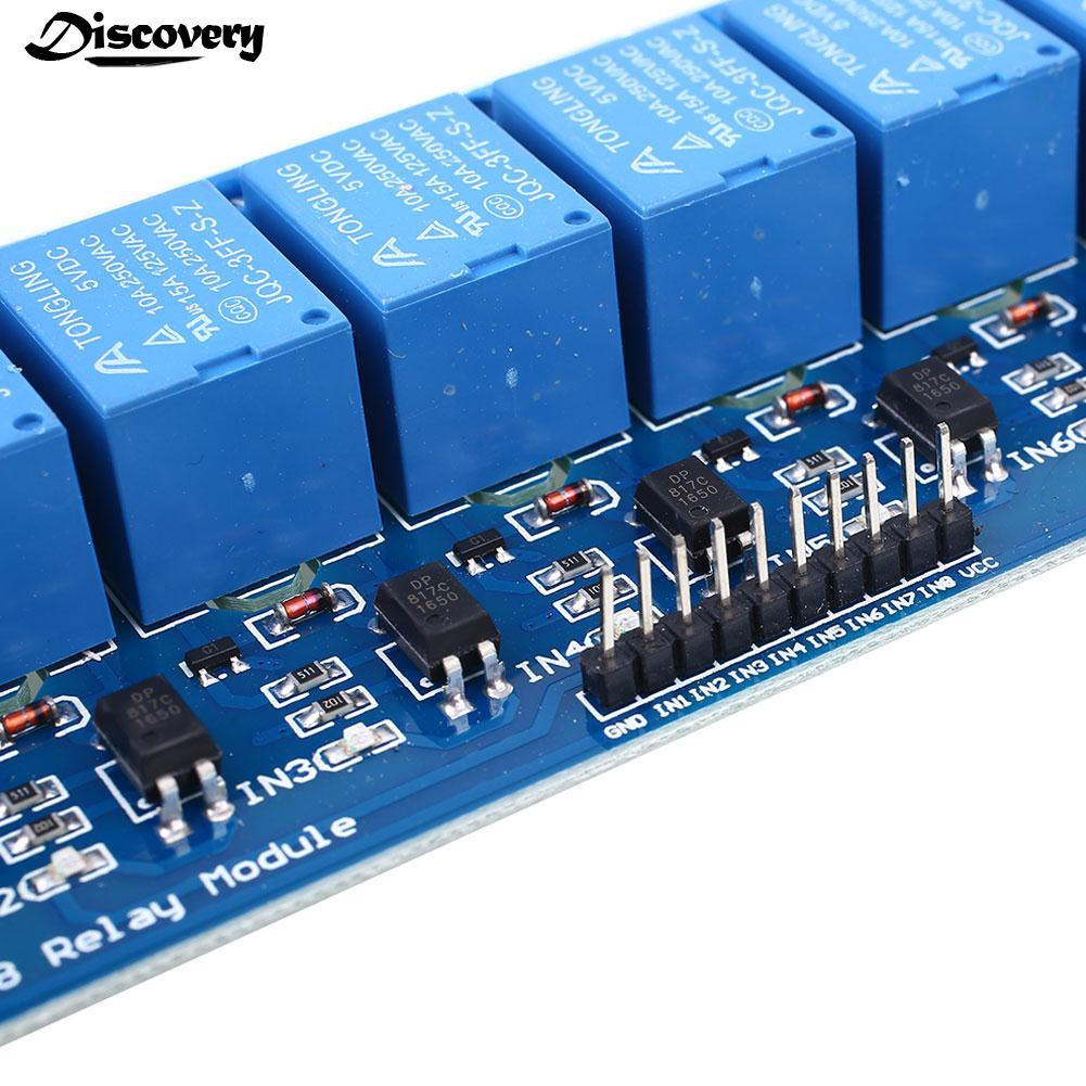 DIS 5V Arduino 8 Channel Relay Control Panel Board Module Electronic  Components