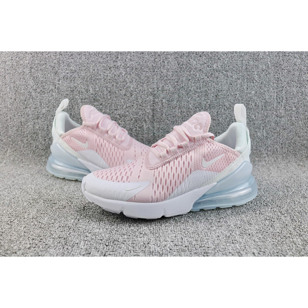 NIKE AIR MAX 270 light pink white running shoes