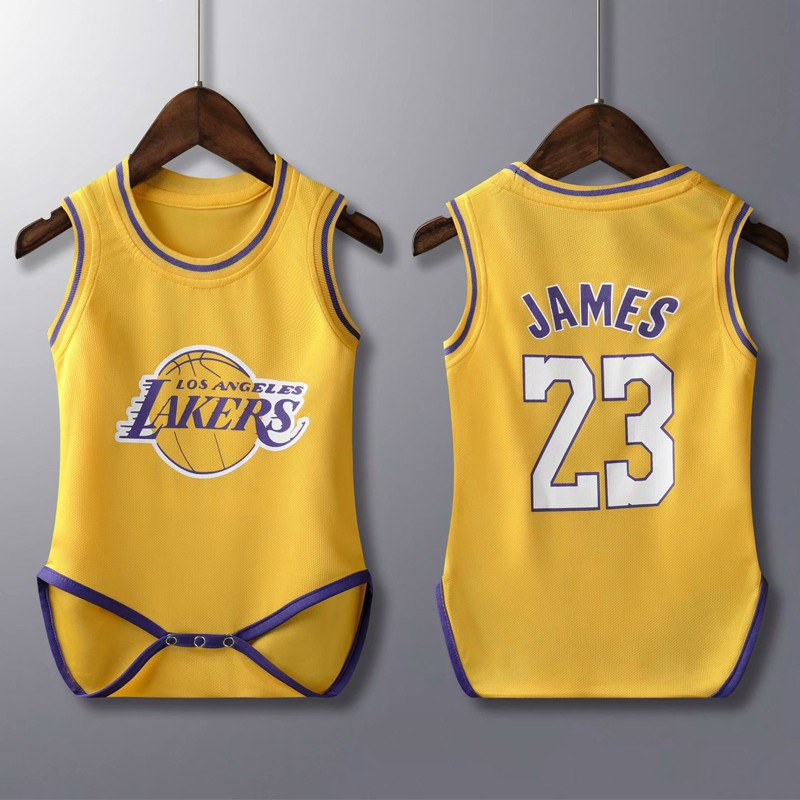High Quality Baby NBA Basketball Jersey Los Angeles Lakers No.23 ...