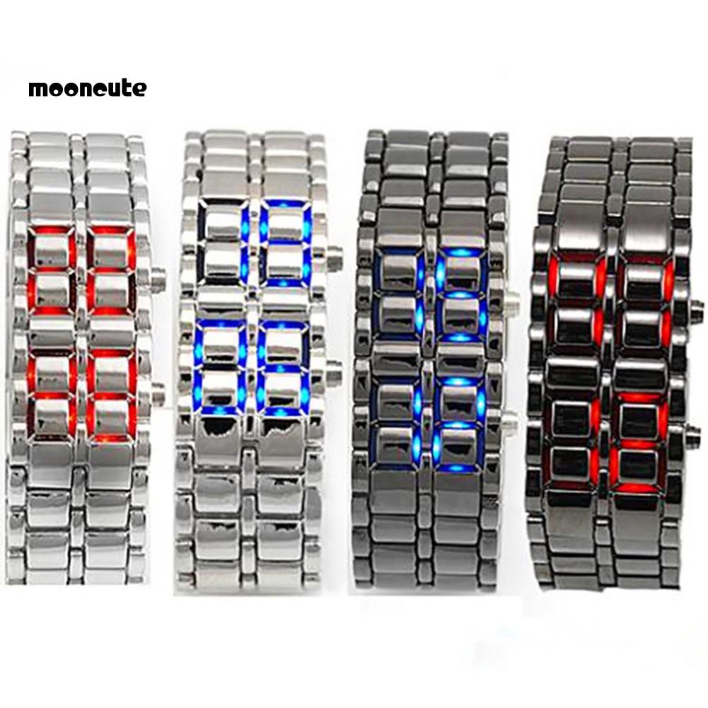 Mnct Fashion Led Digital Alloy Men Women Wrist Watch Bracelet Chain Valentines Gift Shopee Philippines
