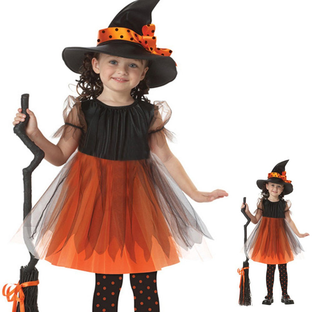 Toddler Kids Baby Girls Halloween Costume Clothes Party Dresses Outfit